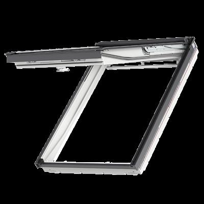 velux gpu wit kunststof uitzettuimelvenster pk08 94x140cm dakraam plaatsen of vervangen. Black Bedroom Furniture Sets. Home Design Ideas